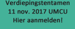 Verdiepingstentamen november 2017